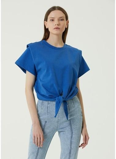Etoile Isabel Marant Isabel Marant  Bağlama Detaylı T-shirt 101623714 Mavi